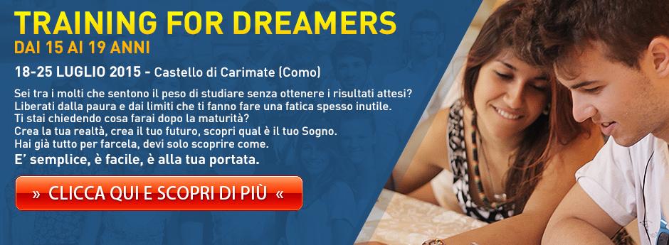 Training for Dreamers JUNIOR dai 15 ai 19 anni
