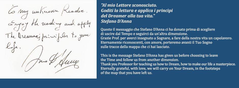 12 Settembre 2014 | Il messaggio di Stefano D'Anna