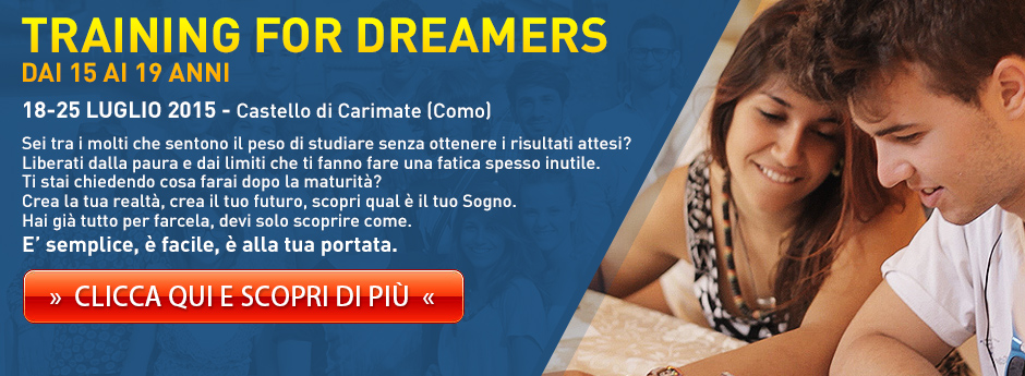Training for Dreamers JUNIOR dai 15 ai 19 anni